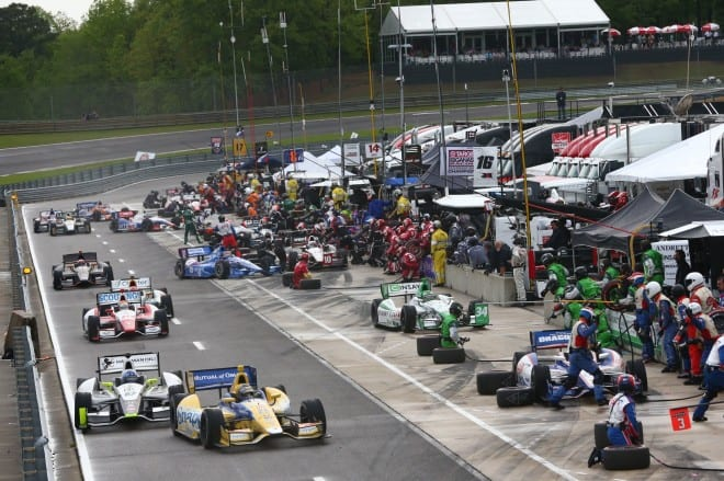2014 IndyCar Alabama pit stops