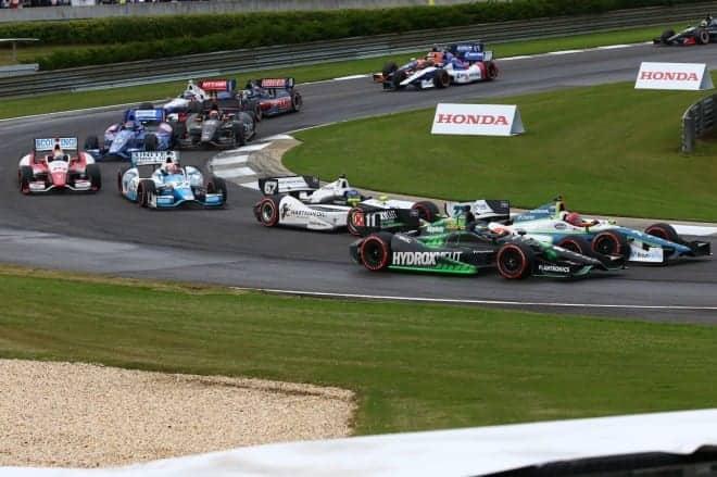 2014 IndyCar Alabama racing action