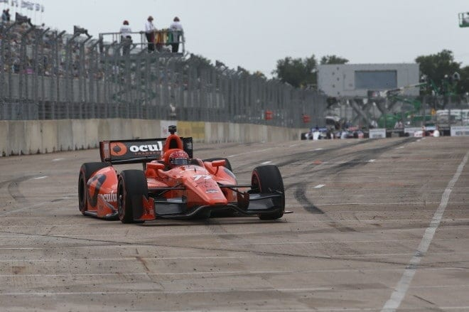 2014 IndyCar Houston 2 Pagenaud on track