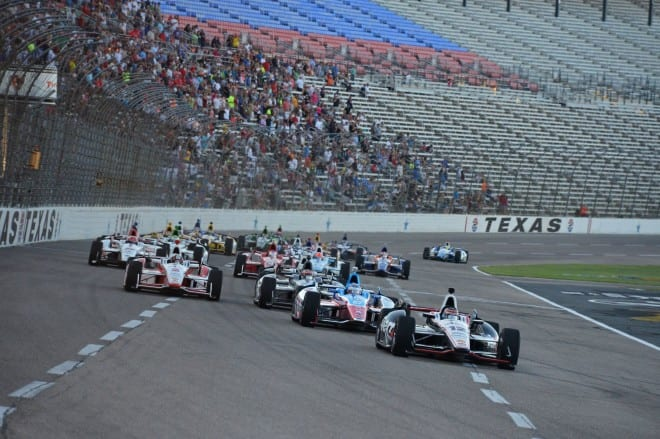 2014 IndyCar Texas racing action