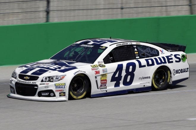 Jimmie Johnson competes at Kentucky Speedway. (Credit: CIA)