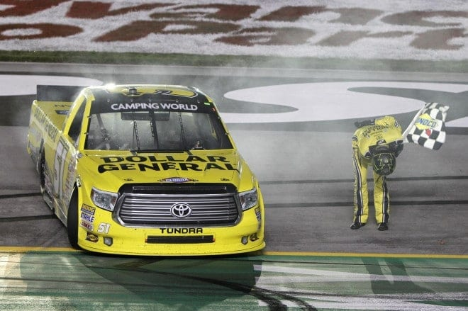 Toyota has stood the Camping World Truck Series on its ear thus far in 2014, going 10 for 10 in race wins. Kyle Busch Motorsports has authored 9 of those 10 races.