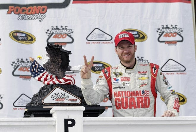 Can Dale Earnhardt, Jr. complete the Pocono sweep this weekend at Pocono?