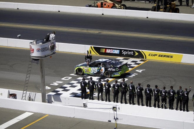 2014 Sonoma CUP Carl Edwards flip with crew CIA