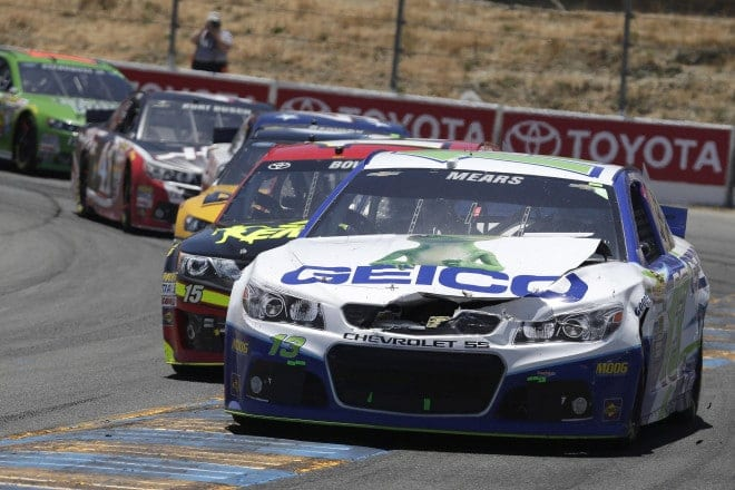 2014 Sonoma CUP Casey Mears damage CIA