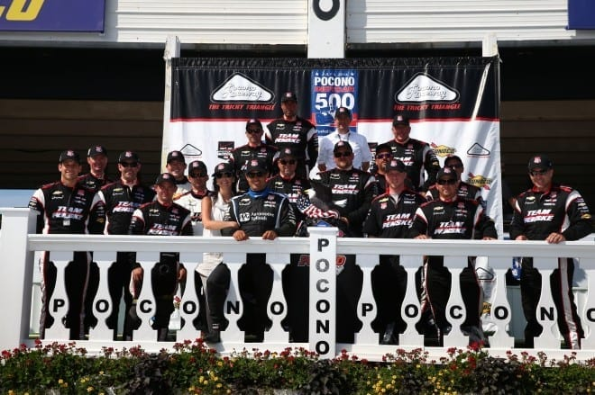 2014 IndyCar Pocono Team Penske victory
