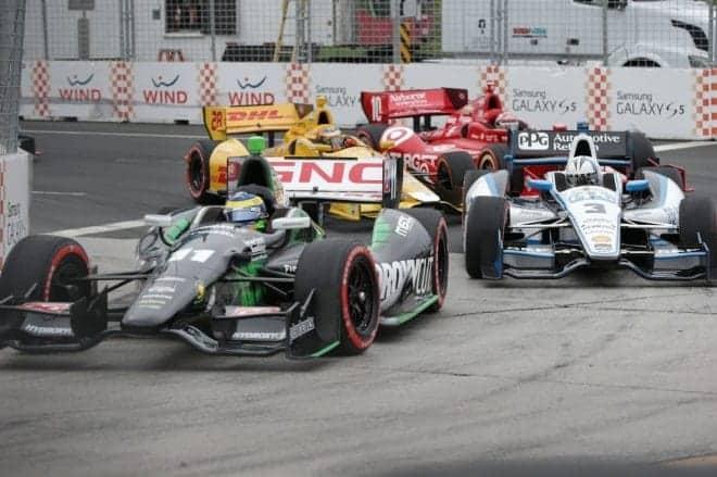 2014 IndyCar Toronto 1 Bourdais leading