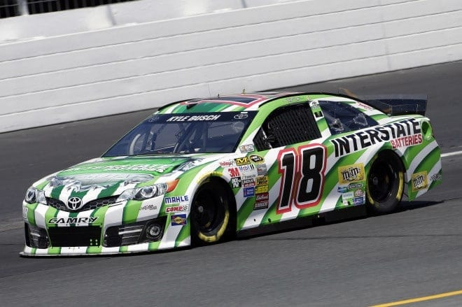 Kyle Busch in his No. 18 at New Hampshire Motor Speedway. (Credit: CIA)