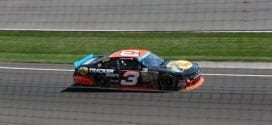 Ty Dillon practices at Indianapolis for the Nationwide series race.  Credit: Mike Neff