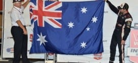 2014 IndyCar Auto Club Will Power Roger Penske Aussie flag