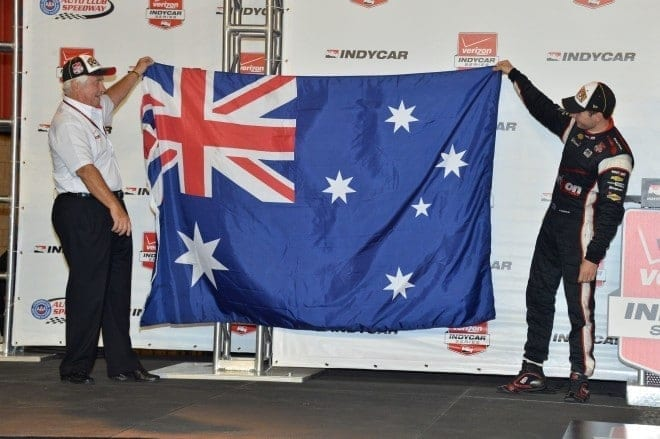 2014 IndyCar Auto Club Will Power Roger Penske Aussie flag