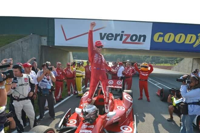 2014 IndyCar MidOhio Scott Dixon woohoo