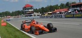 2014 IndyCar MidOhio Simon Pagenaud on track