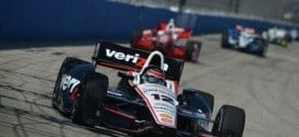 2014 IndyCar Milwaukee Power on track
