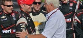 2014 IndyCar Milwaukee Will Power Roger Penske congrats