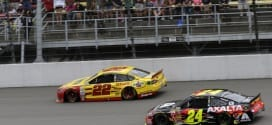 2014 Michigan II CUP Joey Logano Jeff Gordon racing CIA