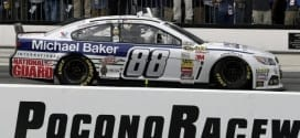 Dale Earnhardt, Jr. after winning the GoBowling.com 400 at Pocono Raceway. (Credit: CIA)