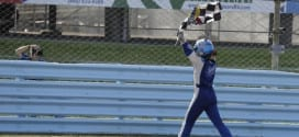 2014 Watkins Glen CUP AJ Allmendinger checkered flag CIA