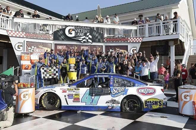 2014 Watkins Glen CUP AJ Allmendinger team victory lane CIA