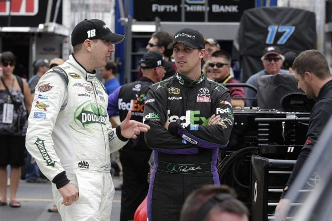 """Denny, did you know you can park your car ANYWHERE on the track, and your crew will push it back to the garage? That's better than having a valet!"" (Photo: CIA Editorial Photography)"