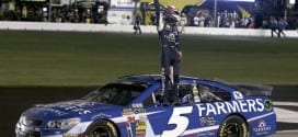 Kasey Kahne stepped up in a big way late in Sunday's Cup race. (Credit: CIA)
