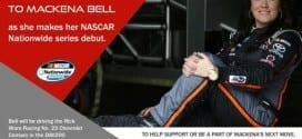 Bell, the only female graduate of NASCAR's Drive for Diversity Program, is set to make her Nationwide Series debut at Phoenix. (Credit: Rev Racing)