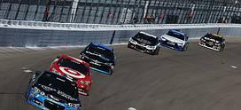2015 Las Vegas CUP Kasey Kahne Kyle Larson racing credit NASCAR via Getty Images