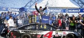 2015 Las Vegas CUP Kevin Harvick woohoo credit NASCAR via Getty Images