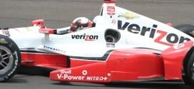 IndyCar 2015 Indy Montoya on track credit Mark Reed