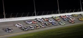 Dale Earnhardt, Jr. and Jimmie Johnson lead the pack in the Coke Zero 400 at Daytona