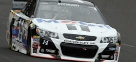 Tony Stewart on track at Indianapolis Motor Speedway