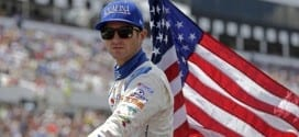 Kasey Kahne rides around Pocono Raceway prior to the Windows 10 400