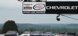 NASCAR XFINITY Series drivers take the green flag at Road America August 29, 2015