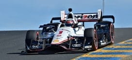 Will Power on track at Sonoma (credit: John Cote/IndyCar)