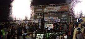 Kyle Busch XFINITY Victory Lane 2015 Bristol Mike Neff