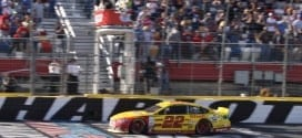 Joey Logano Bank of America 500 Finish Cup Mike Neff