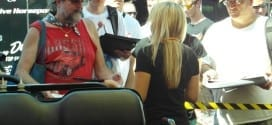 Brittany Force meets fans. (Photo: Toni Montgomery)