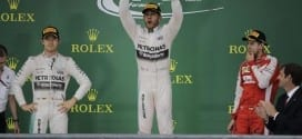 Lewis Hamilton celebrates his USGP win and third overall championship (credit: Getty Images)