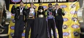 2015 NHRA Pomona 2 Brown Enders Worsham Hines champions credit NHRA Media