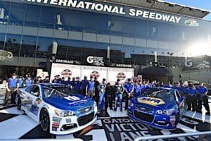 Dale Earnhardt Jr and Chase Elliott Daytona 500 Cup Front Row Nigel Kinrade